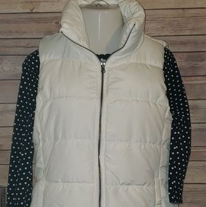 Large white quilted puffer jacket